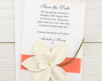 SAMPLE * Orchid Save the Date Cards