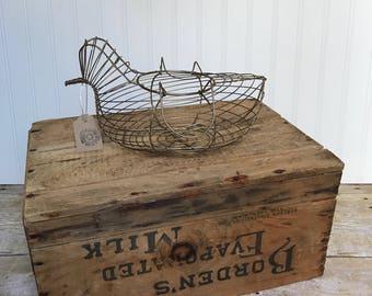 Antique egg basket / farmhouse decor