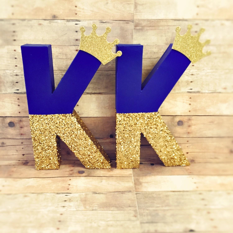 glitter letters royal blue king letters glitter gold crown