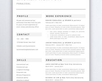 Legal resume etsy professional resume template lawyer resume legal resume template attorney resume template paralegal altavistaventures Choice Image