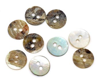 200Knöpfe, button, buttons, mother of Pearl, mother of Pearl buttons, 11 mm, 10477