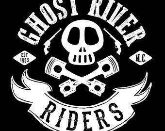 Ghost River Riders Motorcycle Club - Sticker