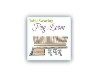 Weaving Loom, Mothers Day Gift, Table Loom, Peg Loom,  Weaving Looms, Stick Loom, Rug Loom, DIY Woven Wall Hanging Tool, Children's Loom