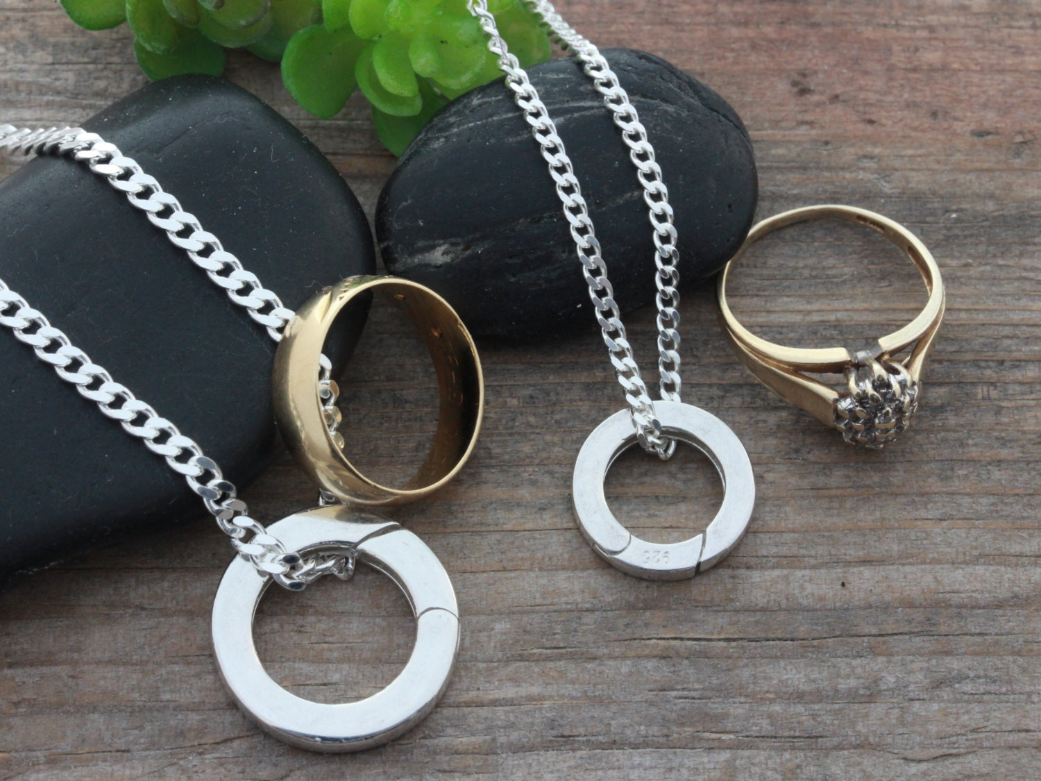 zoom - Wedding Ring Necklace