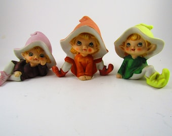 Set of 3 Pixie Elves (5213) from Homeco Home Interior
