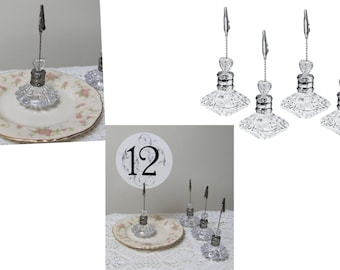 Wedding Table Number Holders, Party Table Number Holders, Party Sign Holders,  Photo Holders or Unique Event Place Card Holders
