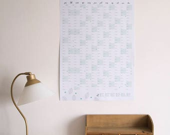 SALE 2018 Botanical Wall Planner