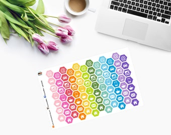 Do it All HONEYCOMBS Planner Stickers  CAM 00218