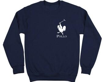 Pollo Funny Polo Spanish Chicken Golf Horse Crewneck Sweatshirt DT0348