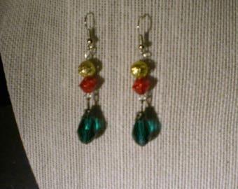 Colors of Christmas Earrings