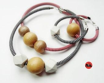 Heidi Cable Statement-Necklace & Bracelet