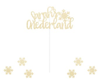 Custom Onederland Birthday Topper - Winter - Onederland - Any Color Glitter - First Birthday Snowflake