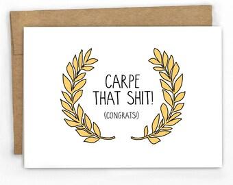 Funny Graduation Card | Congratulations Card by Cypress Card Co.