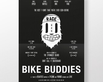 Poster · Bike buddies · DIN A2