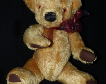 Merrythought Teddy Bear Antique Mohair