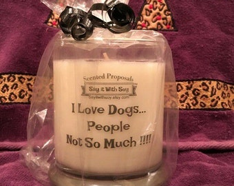 DOG LOVERS CANDLES, Dog lovers gifts, dog Soy candles, Dog lovers stocking stuffers
