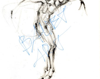 Sylvie, ballet art, art print, wall art, pencil drawing, gift for dancer, black and white art, holiday trends, christmas gifts