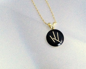 Dainty Gold Necklace - Reclaimed Computer Jewelry - 14K Computer Gold Pins - Geeky - Engineer - Gift for Her - Eco - Mom - Modern - Science