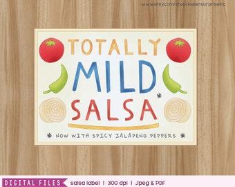 Dragons Love Tacos - Dragon Love Tacos Salsa Label - Salsa Label - Label - 1st Birthday - 2rd Birthday - 3rd Birthday - 4th Birthday