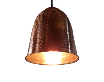 COPPER PENDANT LIGHT - Dimpled Dome Design perfect for Home, Cafe, Office or Bar
