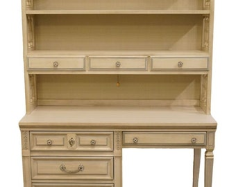 """DIXIE French Provincial 46"""" Student Desk / Vanity w. Bookcase Hutch 340-39 / 340-32"""