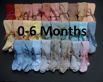 0-6 MONTHS HAND DYED baby tights in a range of beautuiful colours!