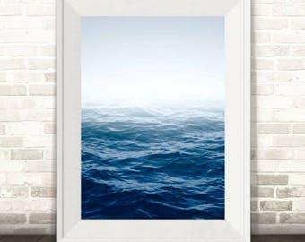 Ocean Photography Print, Blue Sea Print, Blue Ocean Print, Ocean Horizon Print,Ocean Art Print