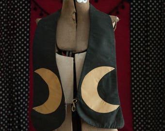 Vintage Sash - Crescent Moon Lodge Oddfellows Masonic Halloween Witch Wizard
