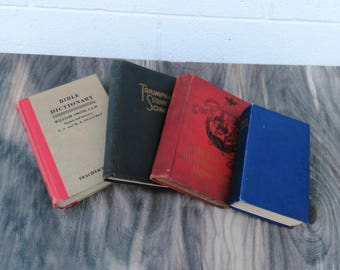 Antique Religious Books - Gospel Hymns - Song Books - Sabbath Readings - Bible Dictionary