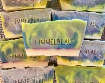 Rainbow Lemongrass Soap | Handmade Soap | Natural Soap | Vegan Soap 3.7oz | Moisturizing Soap | Artisan Soap | Himmelblau Soaps