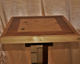 Hand crafted solid wood occasional table