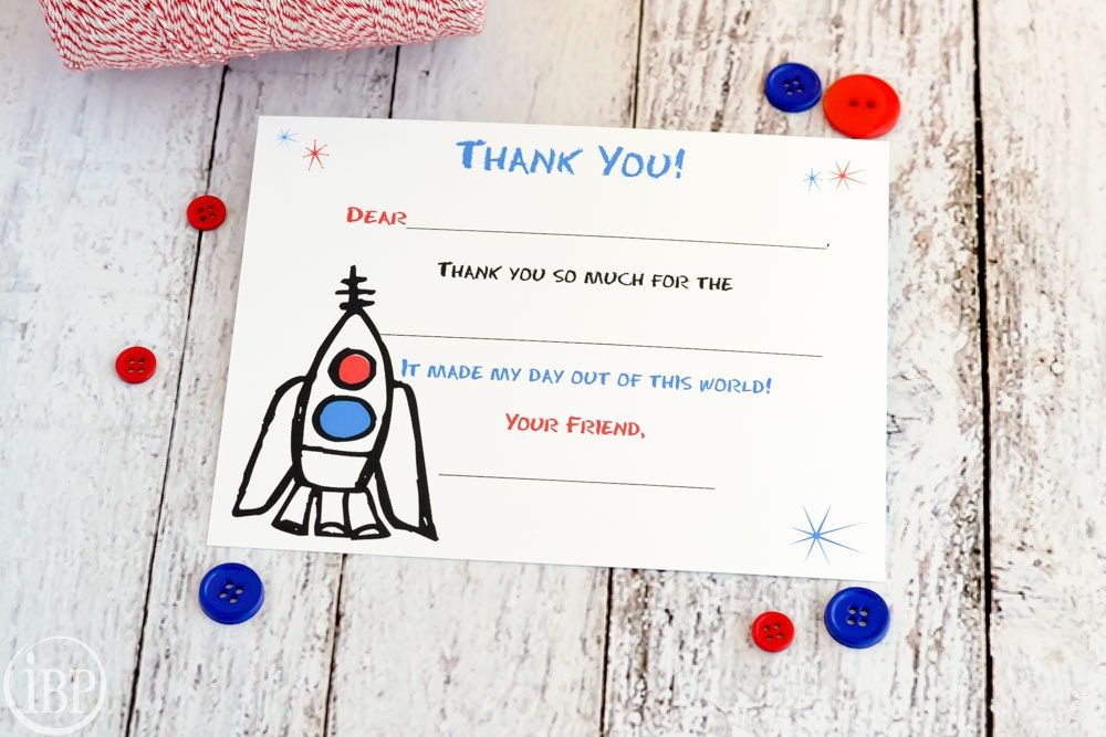 Kids Fill In The Blank Thank You Notes  Kids Thank You Notes