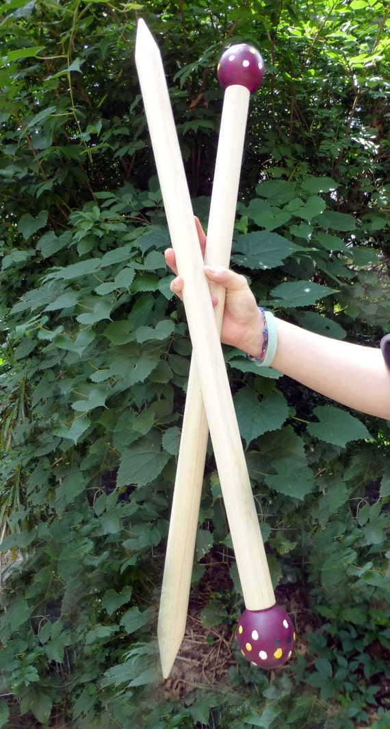 "Huge Knitting Needles, 24"" SMOOSH STIX, Made for Smoosh Yarn."