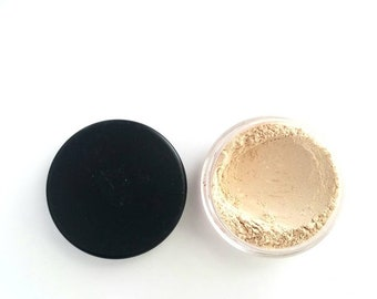 All Natural Aloe Vera Finishing Powder - Translucent Setting Powder with Oil Control, Matte Finish in Powder Puff-Included Sifter Jar. Vegan