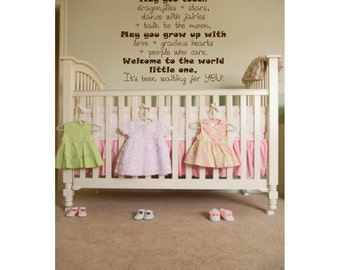 Nursery Decor - Nursery Wall Decals - Nursery Wall Decor - Girls Room Decor - Boys Room Decor - Wall Decals - Wall Stickers - Wall Art