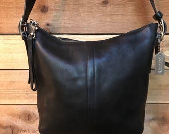 Coach Legacy Black Slim Convertible Crossbody Messenger Bag Genuine Leather Shoulder Purse Handbag 9326