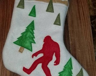 Bigfoot, Christmas stocking, sasquatch