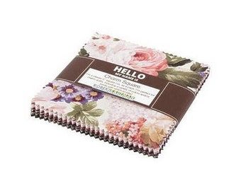 Wexford Garden Floral~ Charm Pack 42, 5In Cotton Squares -By Kaufman Fabrics