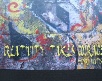 Notepad with Matisse quote - Creativity takes courage - and Italian graffiti