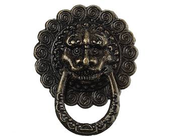 Door Knocker Cabochon Steampunk Supplies Vintage Style Door Handle Antiqued Bronze Cabochon