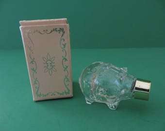 On Sale Reduced price Vintage Avon bottle Petite Piglet with box from 1972
