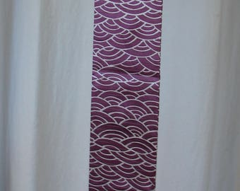 purple and white kimono silk scarf japanese