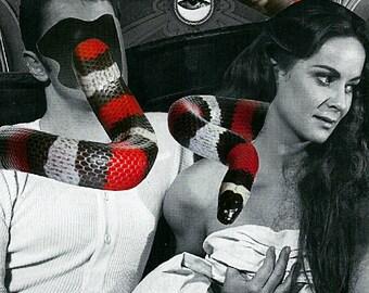 """Handmade collage paper """"Adamo et Eva"""""""