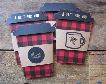 To Go Cup Shaped Gift Card Holder