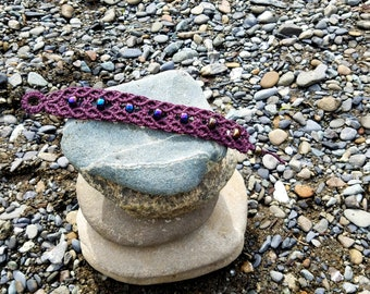 Plum Purple Hemp Bracelet