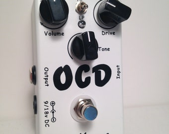 OCD Obsessive Compulsive Drive Overdrive/Distortion Guitar Effect Pedal Two mode selection (HI/LOW) And True Bypass