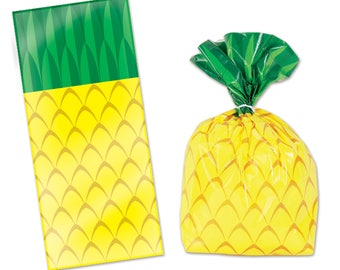 Pineapple Party Favor Bags/ Pineapple Party Favors/ Pineapple Treat Bags/ Pineapple Party