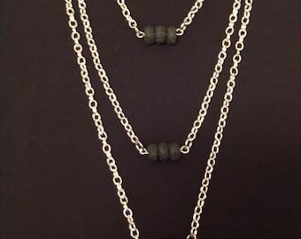 Lava bead necklace, oil defuser necklace, essential oil necklace, lava stone necklace, Mothers Day gift, lava stone, oil defuser