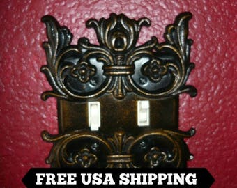 Metal | Double Light Switch Plate Cover | FREE USA SHIPPING | double switch plate | switch plate | light switch cover | FleurDeLisJunkie