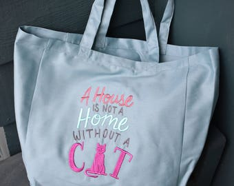 Canvas Tote - House w/o A Cat